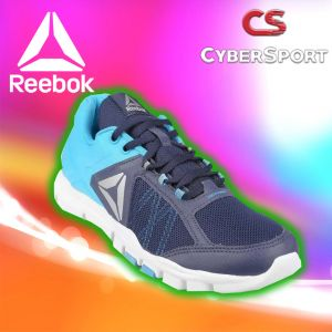 Tenis Reebok Your Flex Trainette Negro/Azul-Originales Bd5628